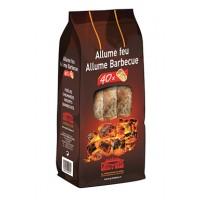Allume feu barbecue/cheminée x40