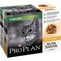 PRO PLAN NUTRISAVOUR STERILISED POULET 10X/85G